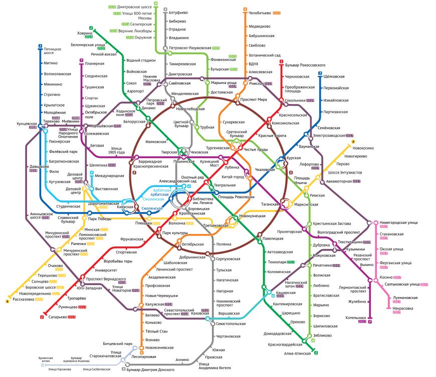 Скачать схему метро для печати